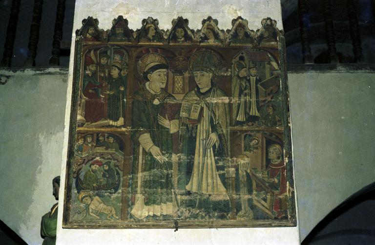 tableau : vie de saint Augustin et de saint Vincent (la)