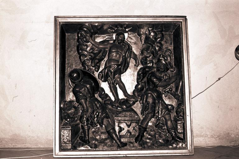 Bas-relief du retable du Rosaire : la Résurrection
