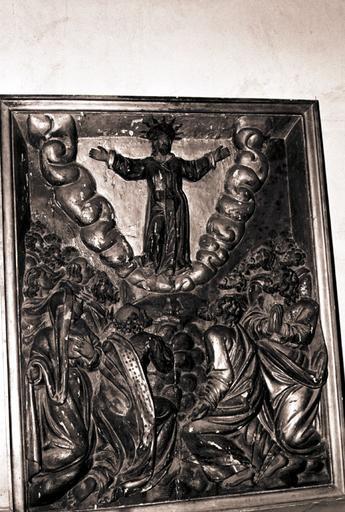 bas-relief du retable du Rosaire : ascension (l')