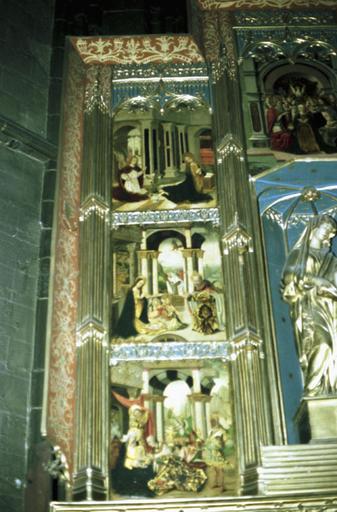 retable, tableaux (12), prédelle de la Vierge-de-Magrana
