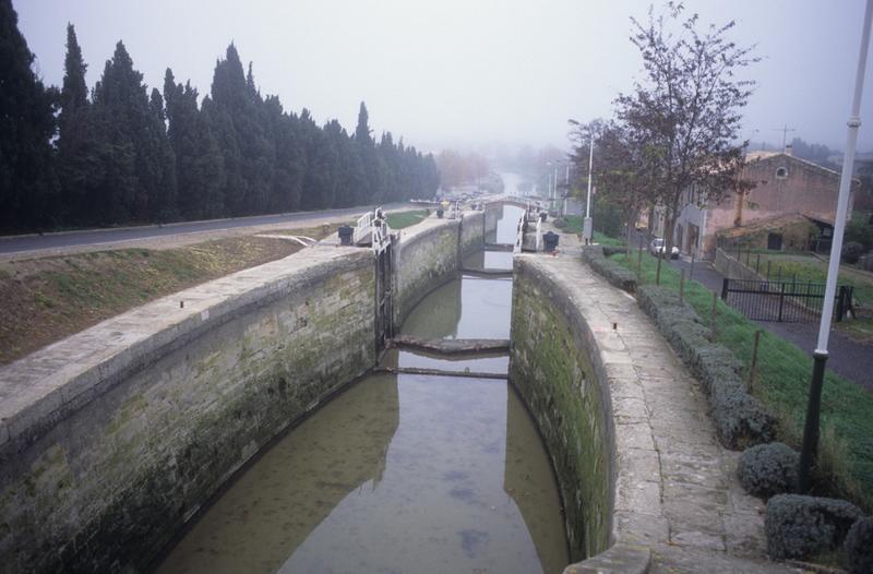 canal du Midi ; écluses de Fonsérannes