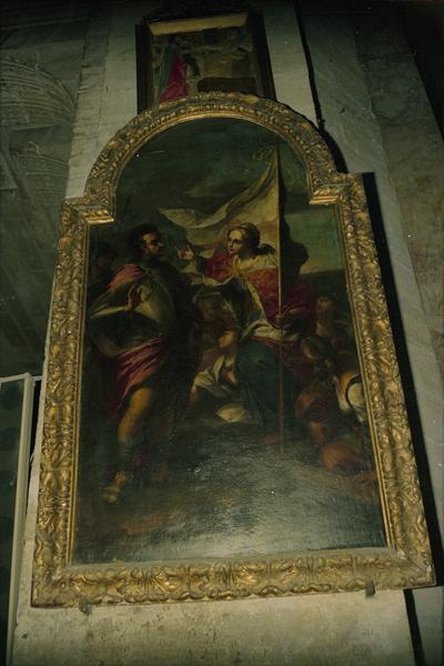 2 tableaux : saint Augustin, une sainte