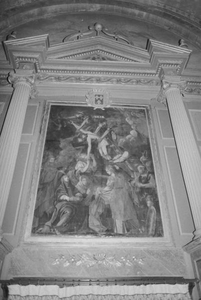 Tableau d'autel : la Descente de croix