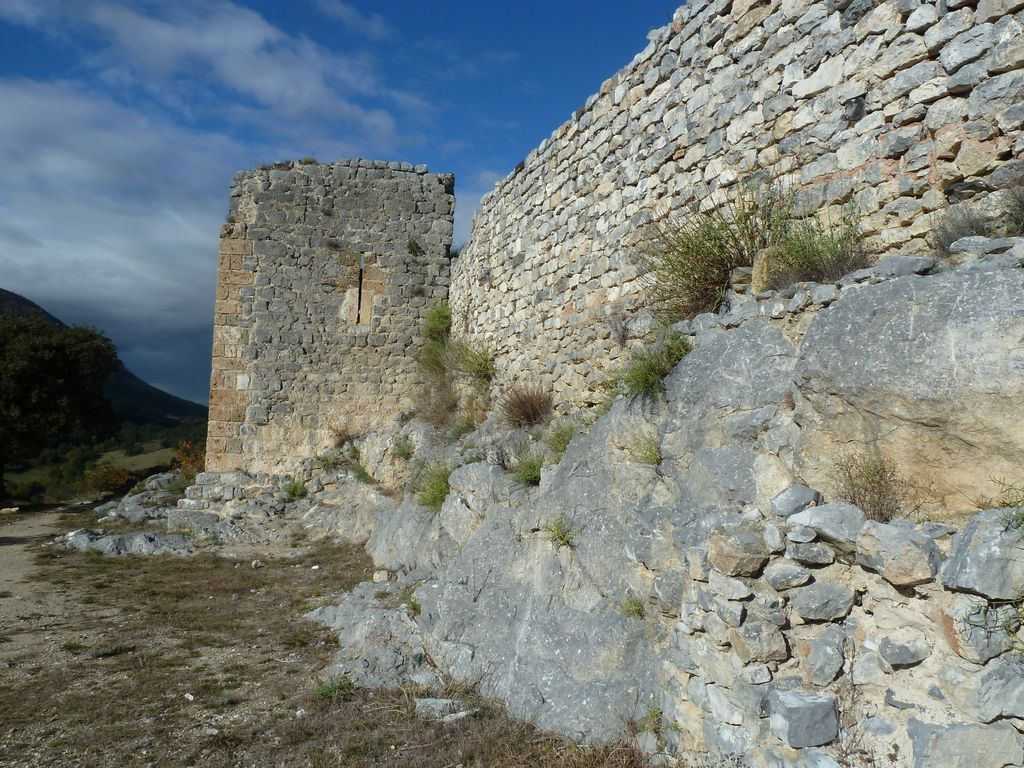 Vestiges du château Saint-Pierre de Fenouillet