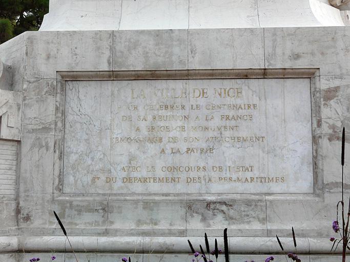 Monument commémoratif du centenaire de la réunion à la France