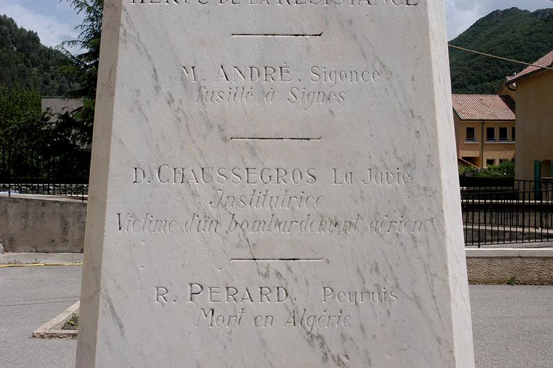 Monument aux instituteurs bas-alpins morts pour la patrie