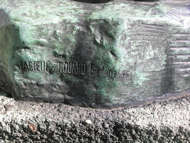Groupe de figures en bronze, le froid