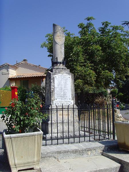 Monument aux morts de la guerre de 1914-1918 ; monument aux morts de la guerre de 1939-1945