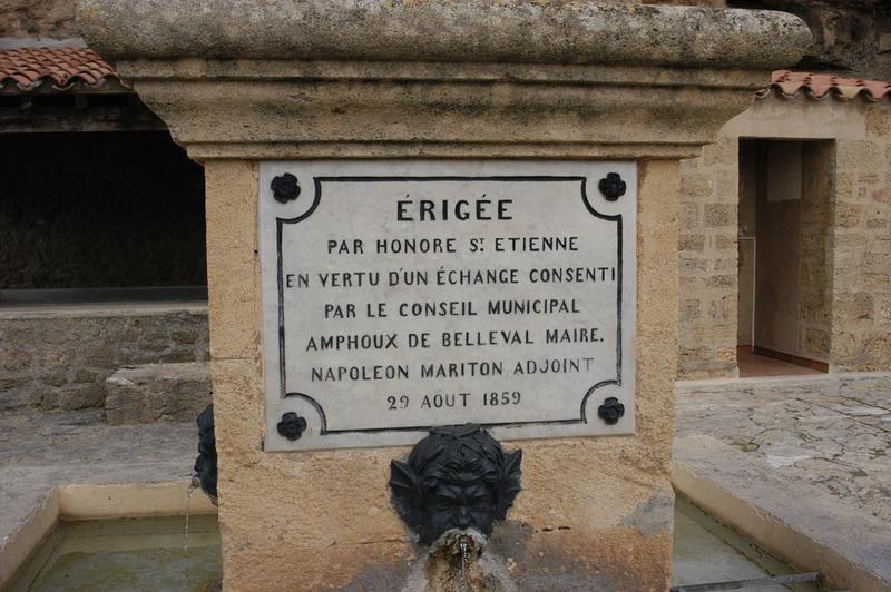 Monument à Louis Castagne, fontaine Castagne