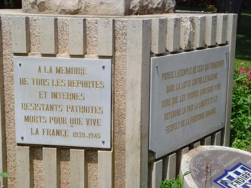 Monument aux morts de la guerre de 1939-1945, monument à la déportation
