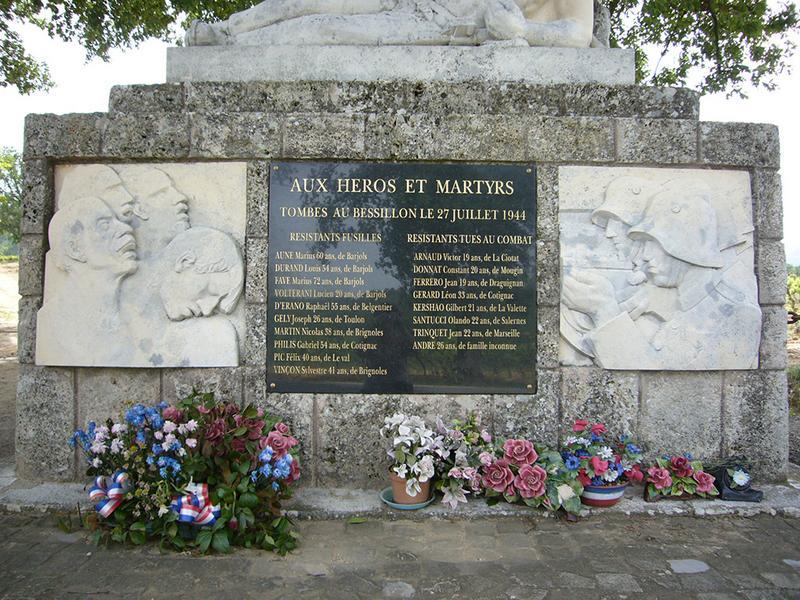 Monument commémoratif aux résistants fusillés du Bessillon