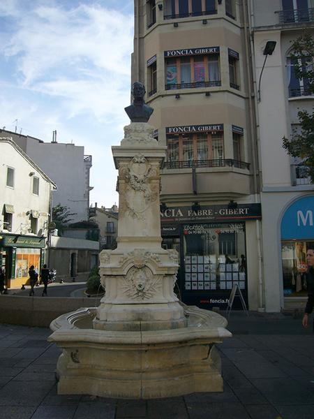 Monument commémoratif à Paul Pamard, fontaine