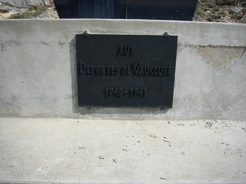 Monument commémoratif aux déportés de Vaucluse