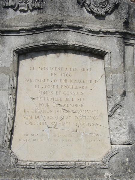 Monument commémoratif de l'ouverture du cours Salviati
