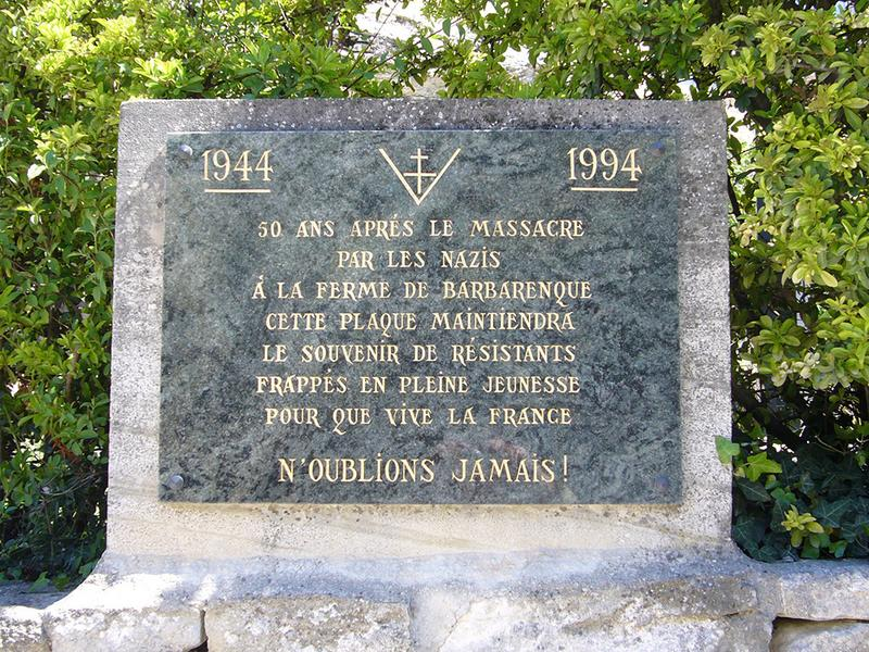 Monument commémoratif aux héros du maquis de Saint-Gens