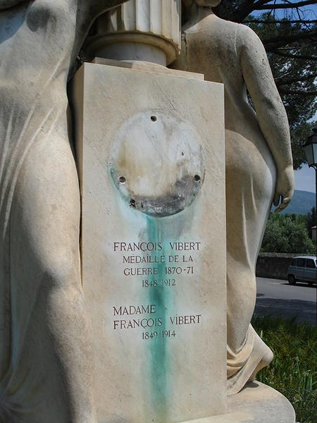 Monument commémoratif à Robert Laurent-Vibert, fontaine
