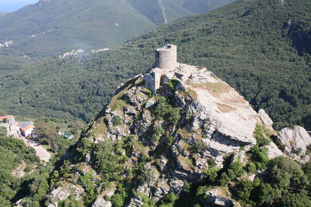 Tour de Sénèque, dite ancien donjon: Vue aérienne du site