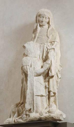 Groupe sculpté : Philibert le beau, son saint patron