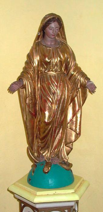 Statue demi-nature : Vierge écrasant le serpent