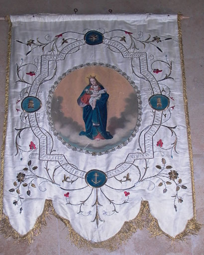 bannière de procession   Vierge à l'Enfant ; Vierge de l'Immaculée Conception 1