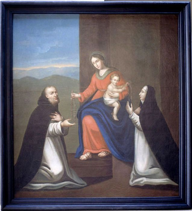 Tableau : Vierge à l'Enfant au Rosaire