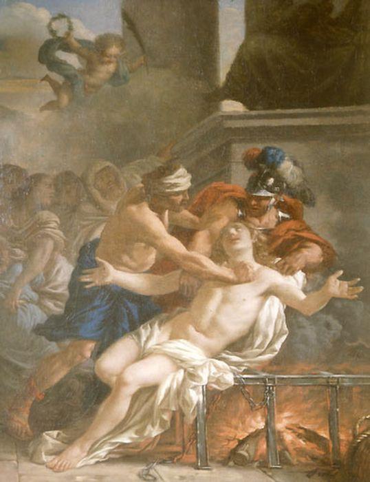 tableau : le Martyre de saint Laurent