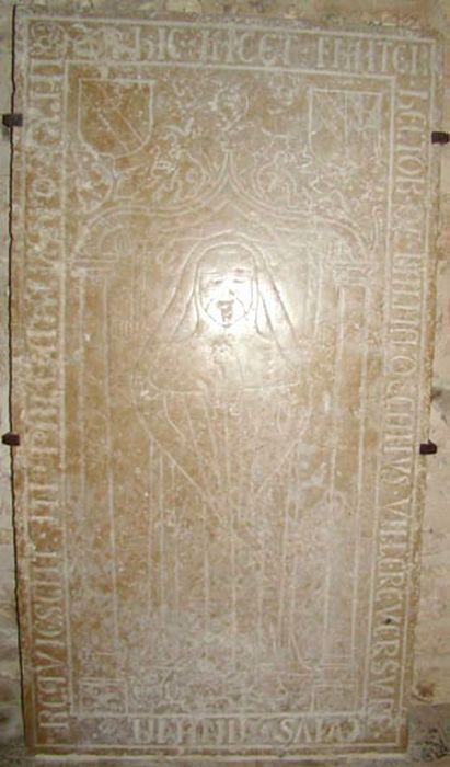 dalle funéraire d'Hector de la Balme, vue générale