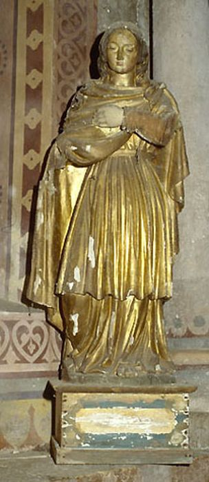statue demi-nature : sainte Philomène (?)