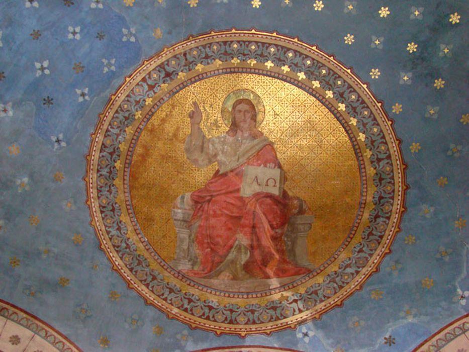 peinture monumentale : Christ bénissant