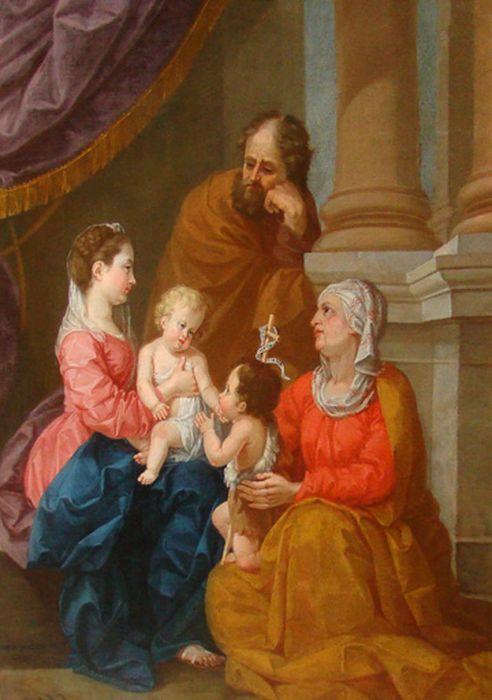 tableau : Vierge à l'Enfant, sainte Elisabeth, saint Jean, Baptiste