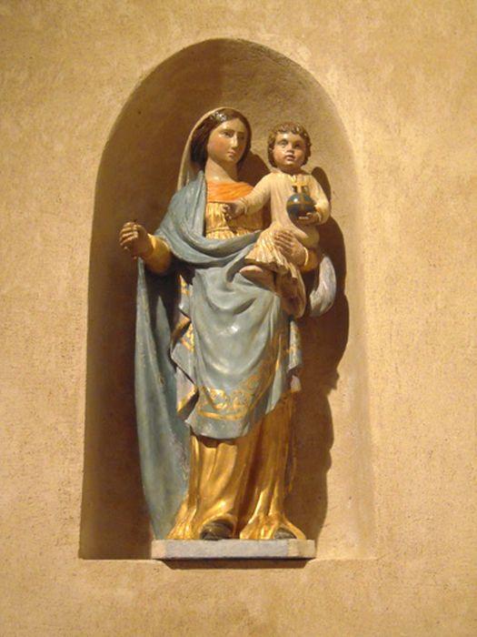 statue demi-nature : Vierge à l'Enfant