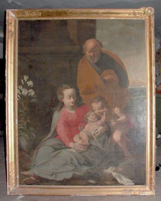tableau : Sainte Famille avec saint Jean-Baptiste (La)