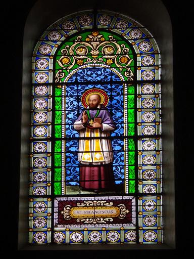 Verrière à personnage n?2 : Saint François-de-Sales