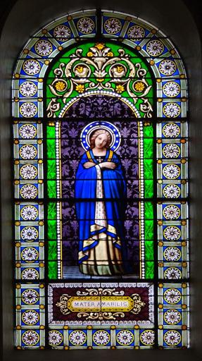Verrière à personnage n?4 : Vierge Marie