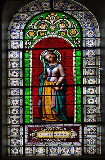 Verrière à personnage n?6 : Sainte Catherine