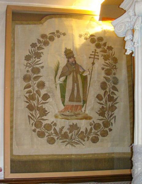 Bannière de procession : saint Sixte