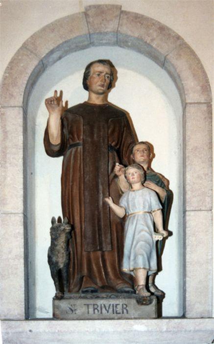 Statue petite nature : Saint Trivier et deux enfants 2