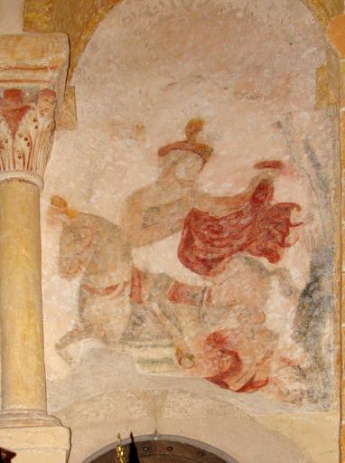 peinture monumentale   saint François-d'Assise recevant les stigmates ; la Charité de saint Martin