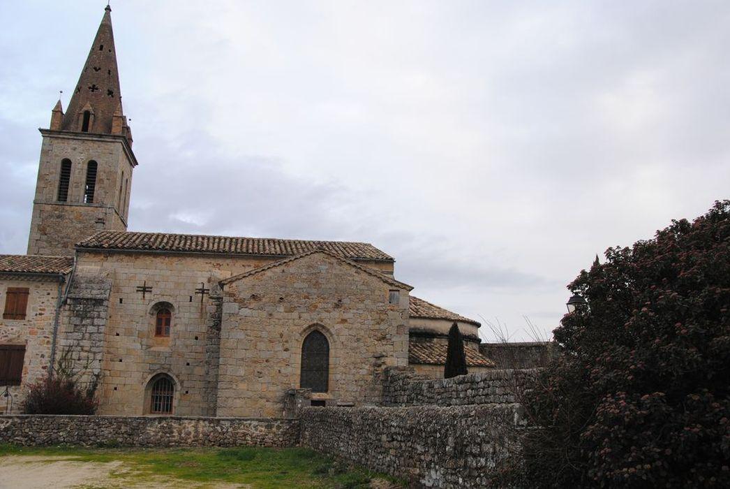 Eglise: Façade latérale sud, vue générale
