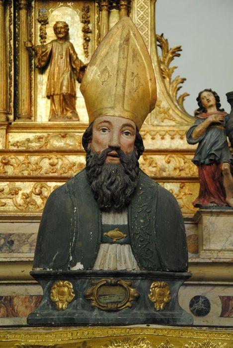 Buste-reliquaire d'un évêque mitré