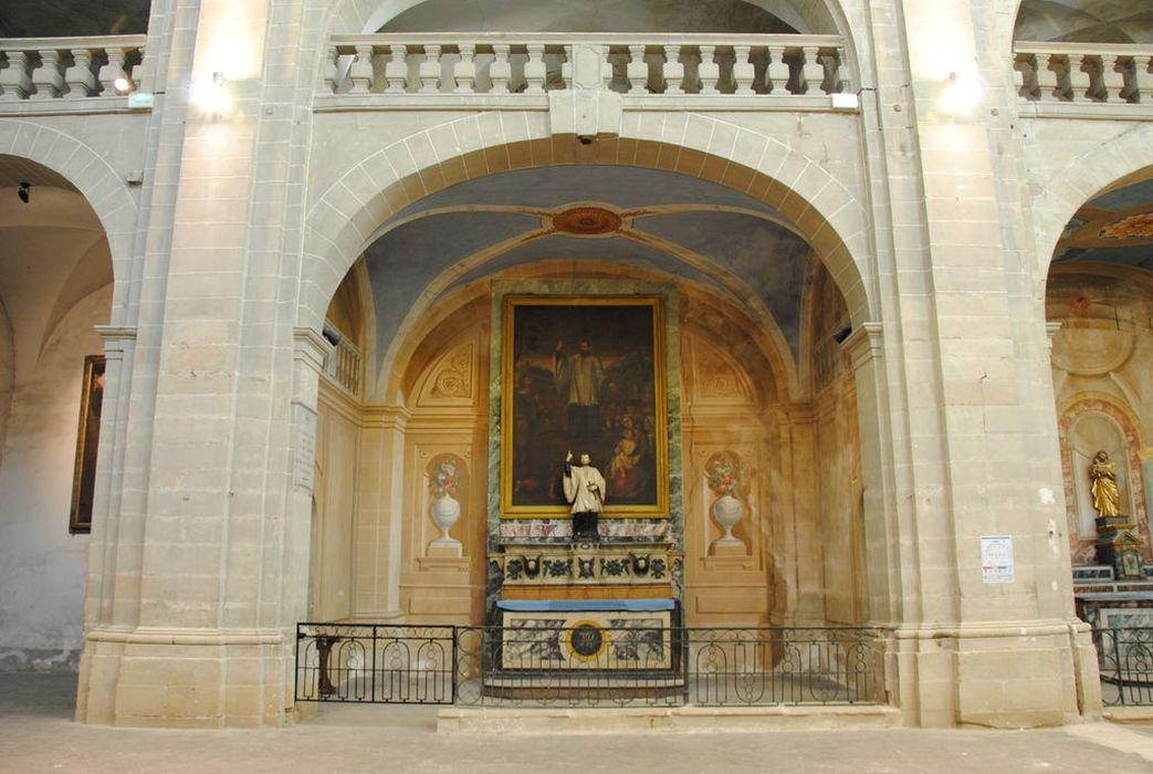 Décor d'architecture ; autel : de saint Régis