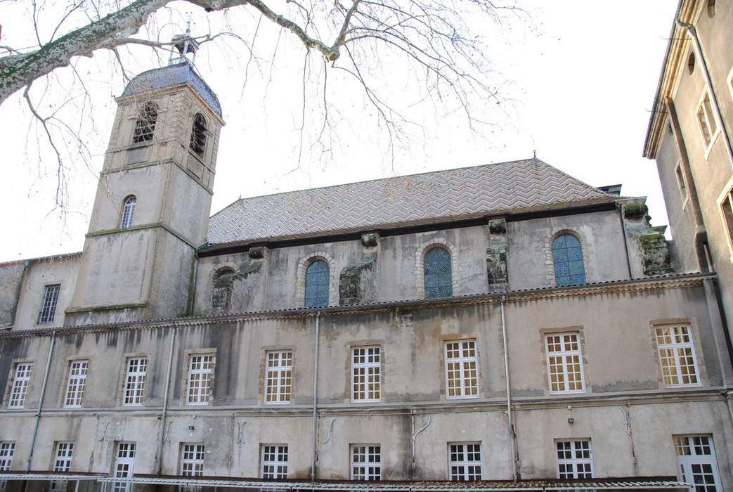 Lycée d'Etat Gabriel Faure: Chapelle, façade latérale nord, vue générale
