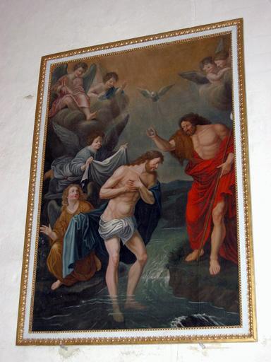 Tableau : Baptême du Christ, cadre