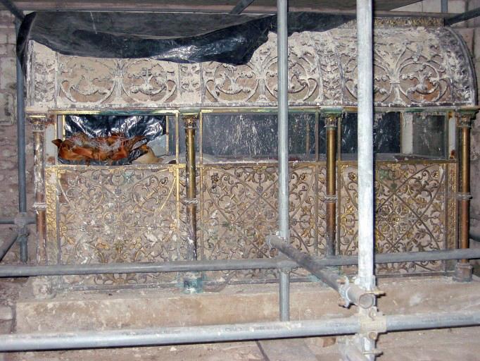 Couvercle du sarcophage de sainte Maure