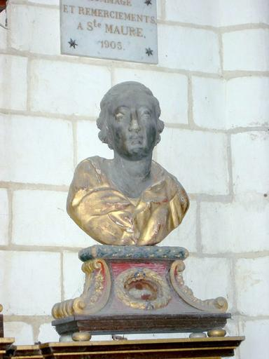 2 bustes-reliquaires : Sainte Maure, saint