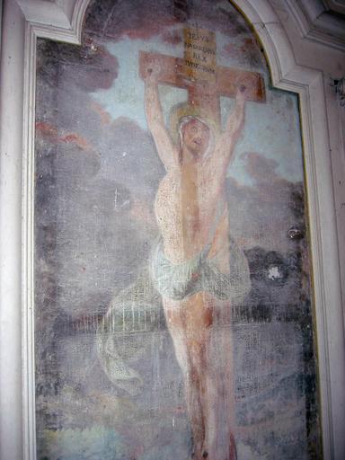Tableau d'autel : Christ en croix