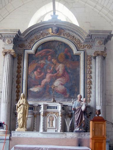 Retable et tabernacle du transept nord