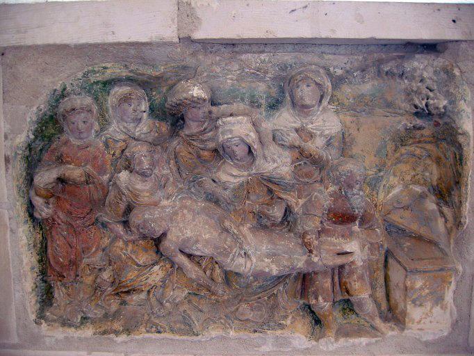Bas-relief : Mise au tombeau