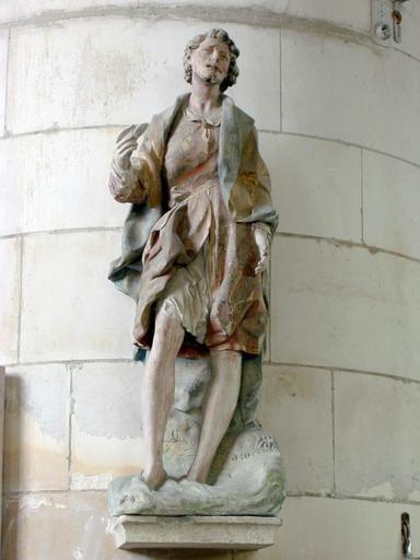 Statue : Saint Jean-Baptiste dans le Jourdain