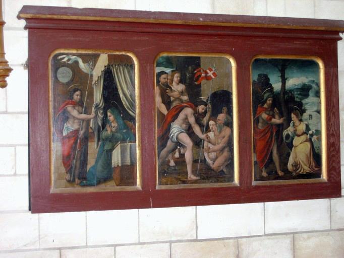 Triptyque : Apparition du Christ à Marie, Descente aux Limbes, Apparition du Christ à Madeleine